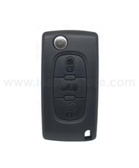 ORJ.Citroen New Berlingo-Delphi-3 button remote- PCF7941A with metal blade-433 MHZ-187453-FSK